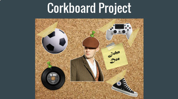 Cork Board Project Using Pixlr.