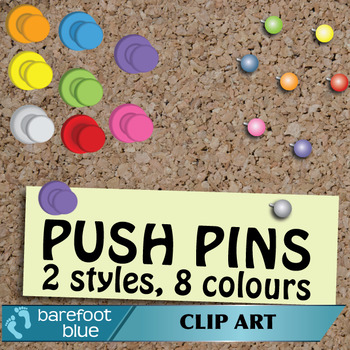 Cork Board Push Pins