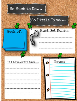 Cork Board Teacher Organization To-Do List *Back To School*