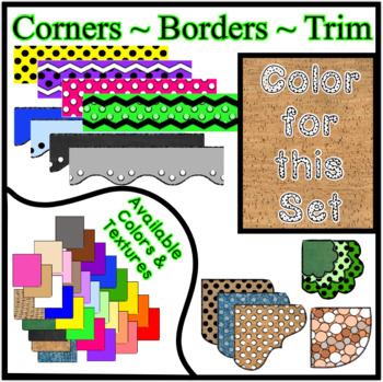 Cork Borders Trim Corners *Create Your Own Dream Classroom/Daycare*