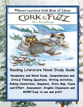 Cork & Fuzz No Fooling Reading Literature Study Guide Teaching Unit PRIMARY
