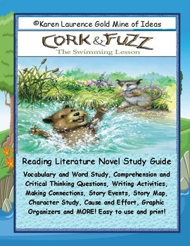 Cork & Fuzz the Swimming Lesson Primary Reading Novel Study Guide