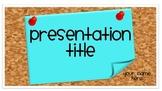 Cork Board PowerPoint Template-Free!