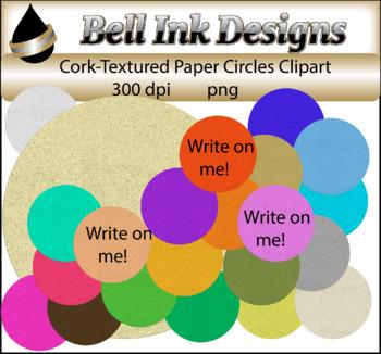 Cork-Textured Paper Circles Clipart