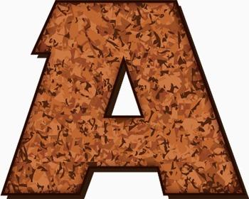 "Corkboard Alphabet! -  98 pcs  - 150 DPI - PDF & PNGs - 3"" High & Latin Glyphs"