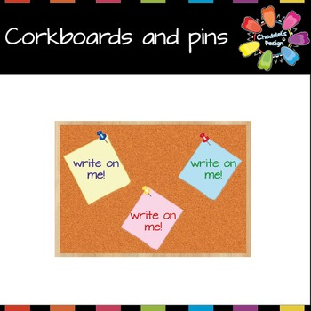 Corkboards, Sticky notes and Pins [Back to School]