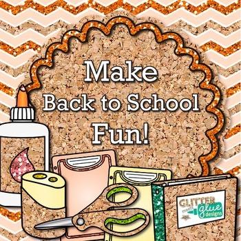 Back to School Supplies Clip Art Bundle {Notebook, Marker, Pencil, Backpack} 4
