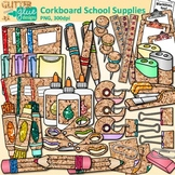 Back to School Supplies Clip Art: School Supply Graphics 4 {Glitter Meets Glue}