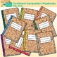 Corkboard Composition Notebook Clip Art {Back to School Supplies for Worksheets}