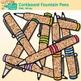 Corkboard Fountain Pen Clip Art {Back to School Supplies for Worksheets}