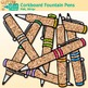 Corkboard Fountain Pen Clip Art {Back to School Supplies for Worksheets}