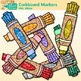 Corkboard Markers Clip Art {Back to School Supplies for Wo