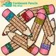 Corkboard Pencil Clip Art   School Clipart for Teachers