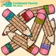 Corkboard Pencil Clip Art {Back to School Supplies for Wor