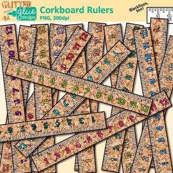 Corkboard Ruler Clip Art   School Clipart for Teachers