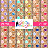 Corkboard Polka Dot Paper {Scrapbook Backgrounds for Task