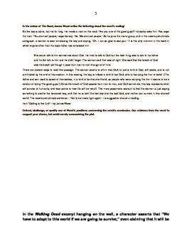 Cormac McCarthy's The Road: Culminating Desk Graffiti Discussion
