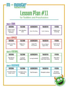 Corn, Apples, Football & Pumpkins Lessons