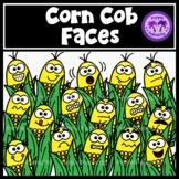 Corn Cob Faces Clipart
