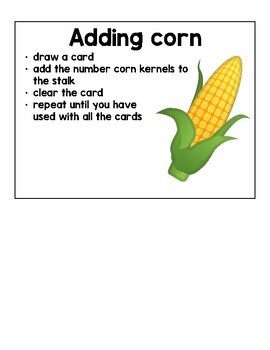 Corn Counting Game- Kindergarten Reach for Reading Unit 3 Farm