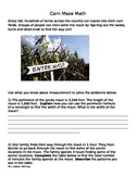 Corn Maze Math: A Fall/Halloween Area and Perimeter Challenge Activity