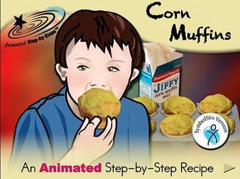 Corn Muffins - Animated Step-by-Step Recipe SymbolStix
