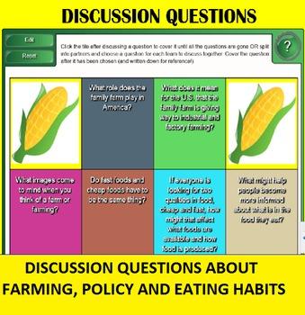 Corn SMART Board Discussion and Activities; FACS, Economics, Environment