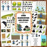 Scarecrow Crows and Corn Fall Activities for Preschool Pre-K