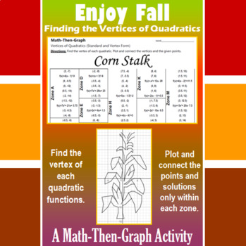Corn Stalk - A Math-Then-Graph Activity - Finding Vertices