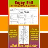 Corn Stalk - A Math-Then-Graph Activity - Solve 2-Step Equations