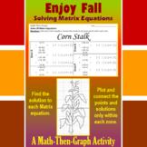 Corn Stalk - A Math-Then-Graph Activity - Solve Matrix Equations