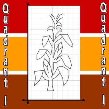 Corn Stalk - A Quadrant I Coordinate Graphing Activity