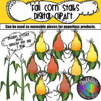 Corn and Stalks Moveable PNG Graphics