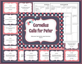 Cornelius Calls For Peter Bible Task Cards