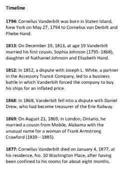 Cornelius Vanderbilt Handout