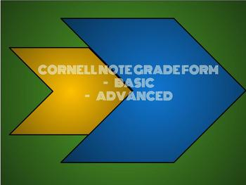 Cornell Note Grading Form- Basic and Advanced