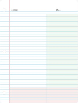 Cornell Note Taking Paper