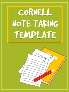 Cornell Note Taking Strategy Template Printable