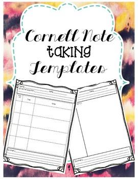 Cornell Note Taking Template FREEBIE