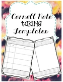 Cornell Note Taking Template FREEBIE