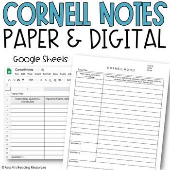 Cornell Note Template