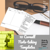 Cornell Note-taking Templates for Middle and High School E