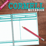 Cornell Notebook: Printable Note-Taking Skills Resource