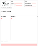 Cornell Notes - AVID Template