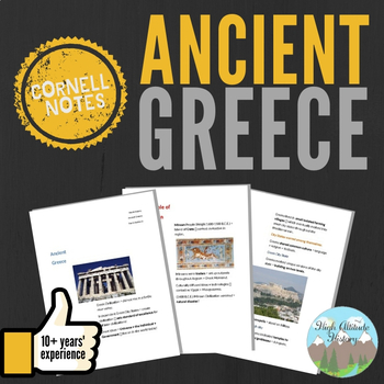 Cornell Notes: (Ancient Greece)