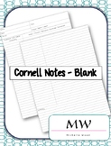 Cornell Notes - Blank