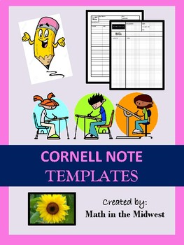 Cornell Notes Bundle {EDITABLE} Regular & Graphing Notes