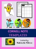 Cornell Notes Bundle {EDITABLE} Regular & Graphing Notes - Note taking bundle