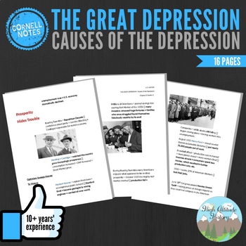Cornell Notes (Causes of the Depression) Great Depression