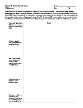 Cornell Notes Ch 4: Theme (Perrine) AP Literature